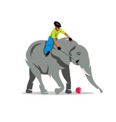Elephant polo Cartoon vector image