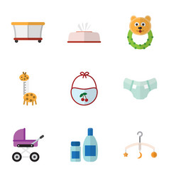 flat icon child set of playground cream with vector image vector image