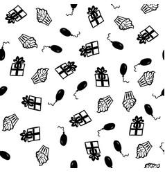 greeting happy birthday seamless pattern vector image