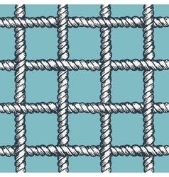 Marine rope net seamless pattern vector image vector image