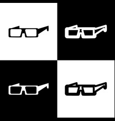 Modern glass sign black and white icons vector