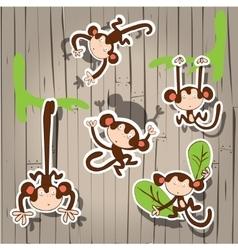 nice cute monkey vector image vector image