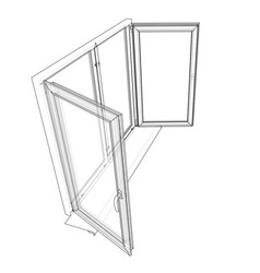 open windows sketch vector image