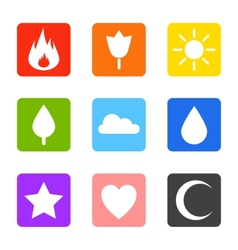 Random abstract icons set vector image vector image