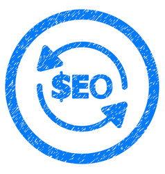 refresh seo rounded grainy icon vector image vector image
