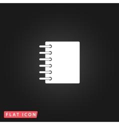 Ring binder calendar notepad - icon vector image vector image