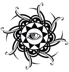 Tattoo eye vector