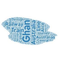 The ghan a great australian train journey text vector