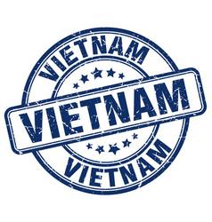 Vietnam blue grunge round vintage rubber stamp vector