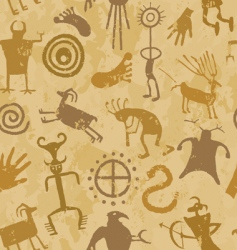 Cave painting vector