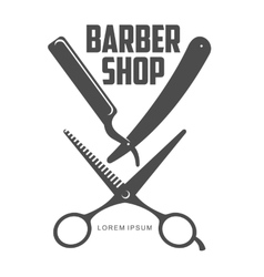 Vintage barber shop logos labels badges design vector