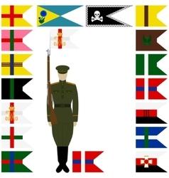 Linear icon russian battalions vector