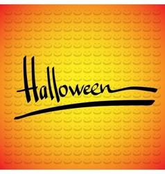 Halloween frame Hand lettering vector image