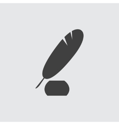 Pen and ink icon vector