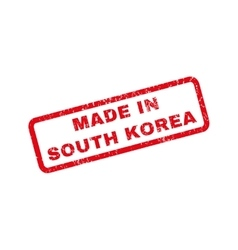 Made in south korea rubber stamp vector
