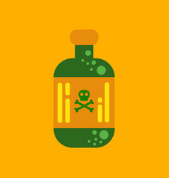 Flat icon stylish background potion in bottle vector
