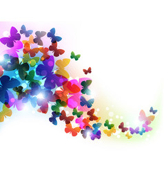 colorful flying butterflies vector image