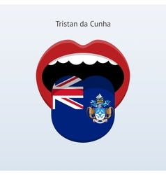 Tristan da cunha language abstract human tongue vector