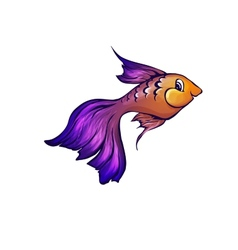 Fish in cartoon style vector