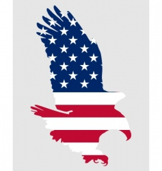 American bold eagle vector image