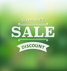 Summer sale poster with bokeh vector