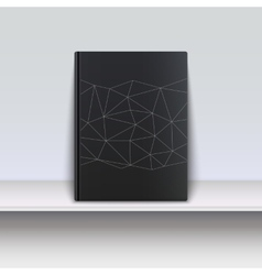 Cover book with techno pattern on a shelf vector
