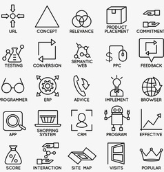 Set of seo and internet service icons - part 5 vector