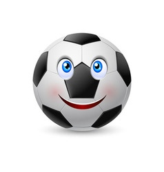 Smiling face on football vector