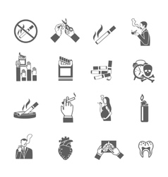Smoking Icons Set vector image