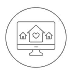 Smart house technology line icon vector