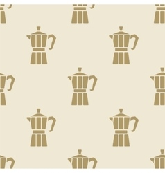 Italian coffee maker moca pattern tile background vector
