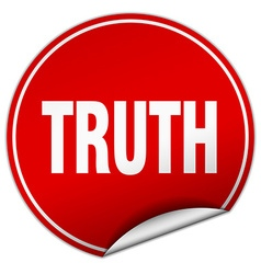 Truth round red sticker isolated on white vector