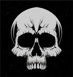 White skulls vector