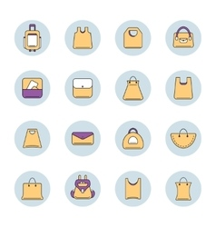 Icons set of shopping bags vector