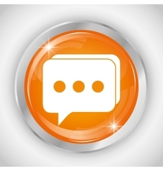 Chat button icon social media design vector