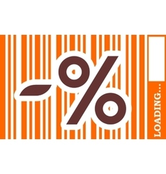 Percent sign build in bar code vector