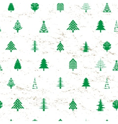 abstract christmas tree pattern vector image vector image