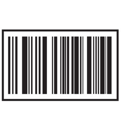 Barcode icon black bar code icon symbol about vector