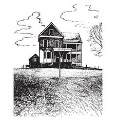 City house vintage vector