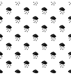 Cloud and snow pattern simple style vector