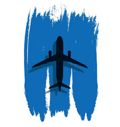 Contour of an airplane in the abstract sky vector