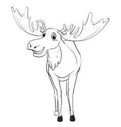 doodle animal for moose vector image vector image