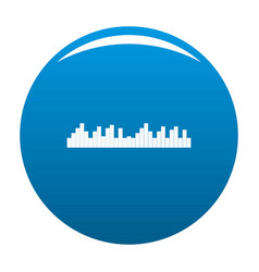 Equalizer frequency icon blue vector