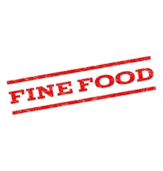 Fine food watermark stamp vector