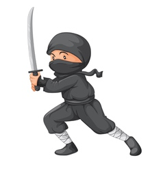 Ninja posed vector