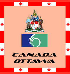 official government elements of canada - ottawa vector image vector image