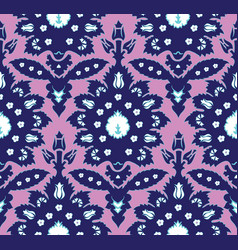 ottoman turkish style floral seamless pattern vector image vector image