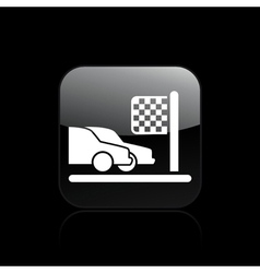 race arrival icon vector image vector image