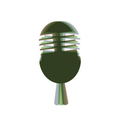 Retro microphone sign colorful icon vector
