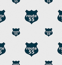 Route 55 highway icon sign seamless pattern with vector